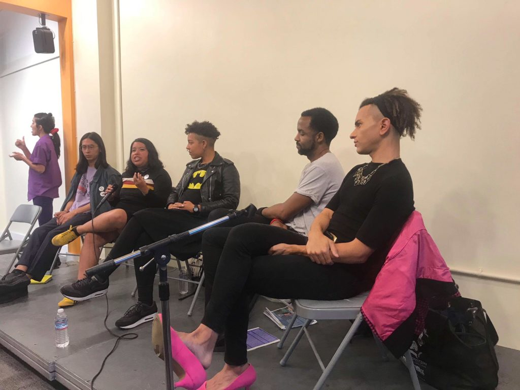 5 participants on a panel about fighting gentrification at 518 valencia