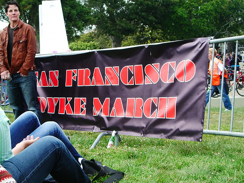 the san francisco dyke march banner