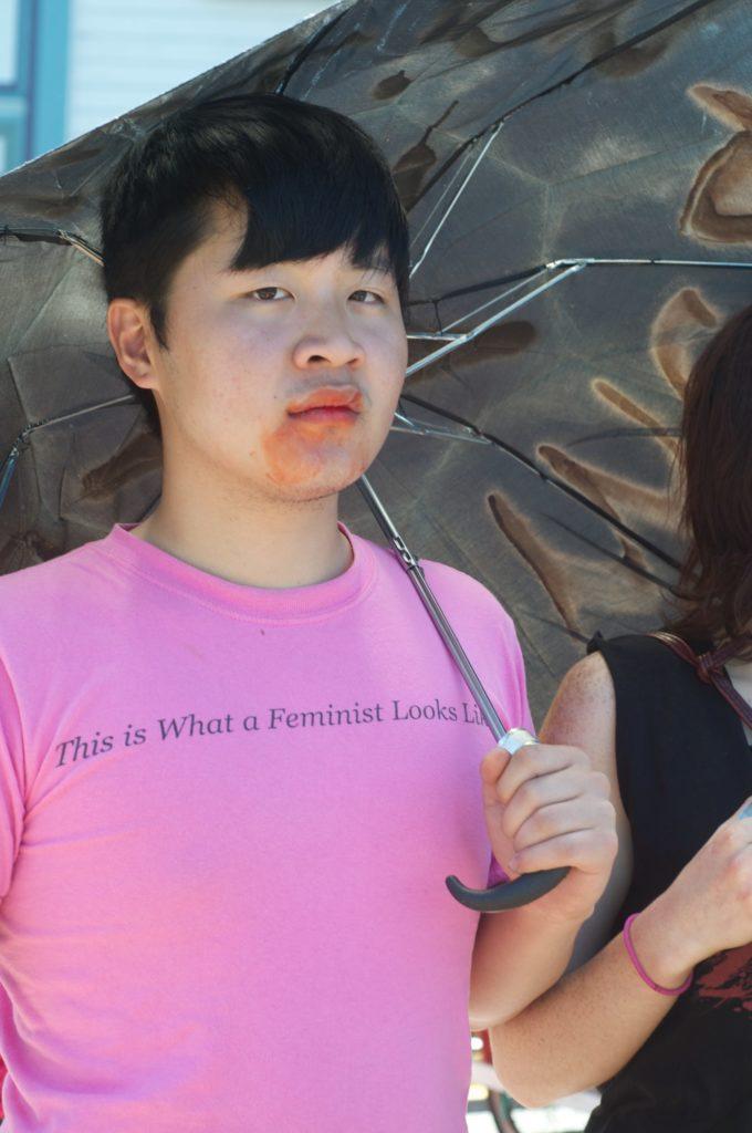 person holding an umbrella