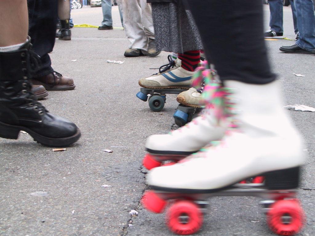 detail or rollerskaters footwear on castro street
