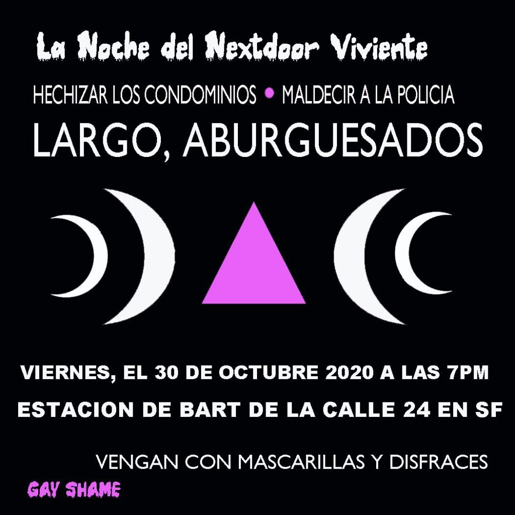 la noche del nextdoor oct 30 7pm 24th y mision san francisco